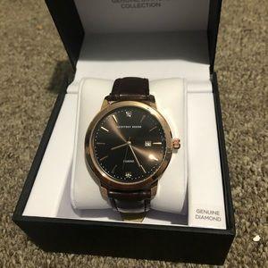 Geoffrey Beene genuine diamond collection watch